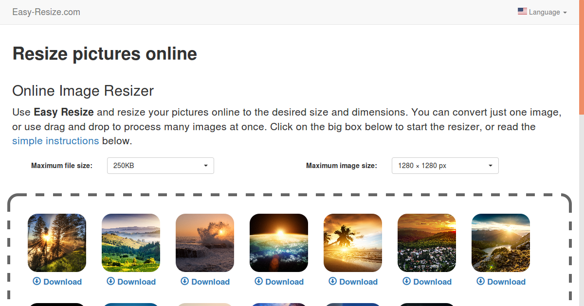 Resize Any Photo Image And Picture For Free Online Easy Resize Com
